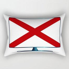 Alabama Flag TV Rectangular Pillow