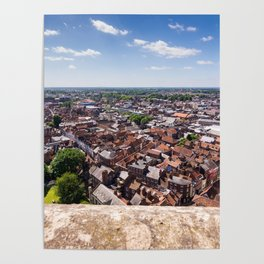 View of York from York Minster Cathedral tower Poster