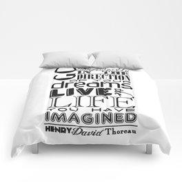 Henry David Thoreau Dreams Quote Comforters
