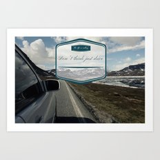 Roadtrip in norway Art Print