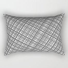 Bauhaus Grid, diagonal Gray & White pattern Rectangular Pillow