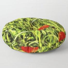 Van Goth Poppys Floor Pillow
