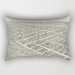 Vintage Pictorial Map of Oklahoma City (1890) Rectangular Pillow