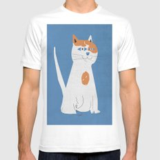 Sam the cat MEDIUM Mens Fitted Tee White