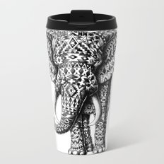Tribal Elephant Metal Travel Mug