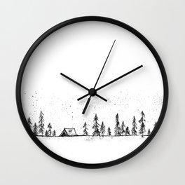 Summer Camp Night Wall Clock