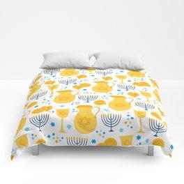 Hanukkah Traditions Pattern Comforters