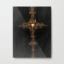 Sacred Cross. Abstract Art by Tito Metal Print
