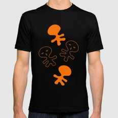 Aliens-Orange Mens Fitted Tee Black MEDIUM