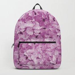 Hydrangea pink Flower Blossoms pattern Backpack