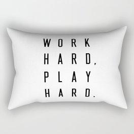 Work Hard Play Hard Rectangular Pillow