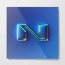 N - 36 days of type #07 Metal Print