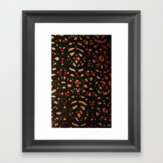 It's a pattern Framed Art Print