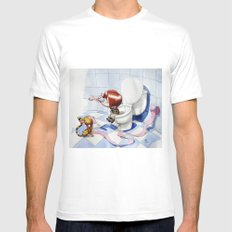 In the intimacy MEDIUM White Mens Fitted Tee
