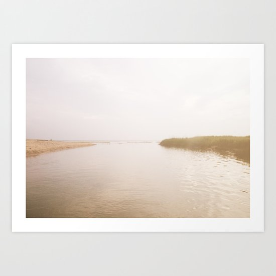 Coastal Opposites Art Print
