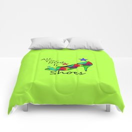 All You Need Is Shoes Green #fashion Comforters