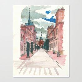 Cloudy street Canvas Print