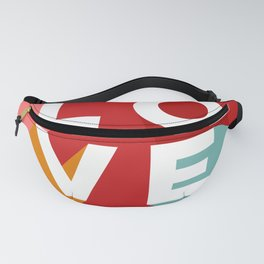 True Love Never Ends on Red Fanny Pack