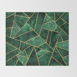 Deep Emerald Throw Blanket