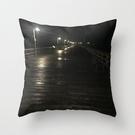 A walk alone Throw Pillow