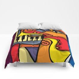 Abstract Jazz art Comforters