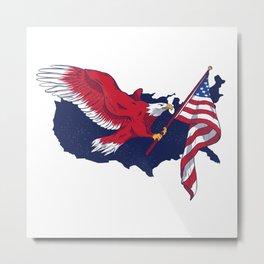 Patriotic American Eagle Metal Print
