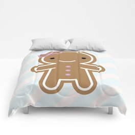 Cookie Cute Gingerbread Girl Comforters