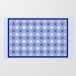 Blue Octograms Rug Rug