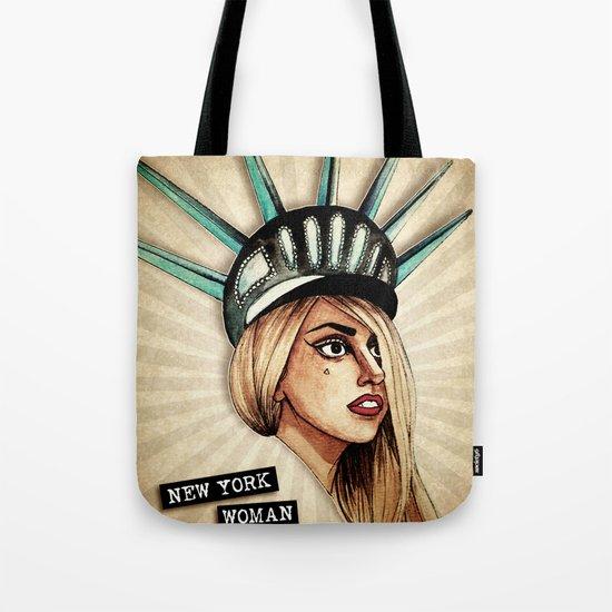 New York Woman Tote Bag