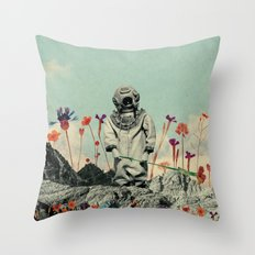 Lonely Diver Throw Pillow