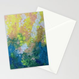 Blue Yellow Criss Cross Stationery Cards