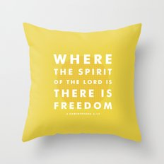 There Is Freedom Throw Pillow