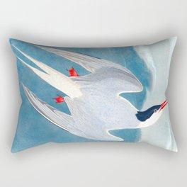 Arctic Tern James Audubon Vintage Scientific Illustration American Birds Rectangular Pillow