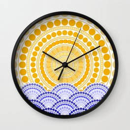 LIGHT OF DAWN (abstract tropical) Wall Clock