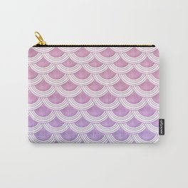 Unicorn Pastel Mermaid Scales #1 #pastel #decor #art #society6 Carry-All Pouch
