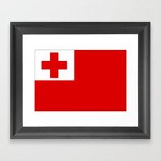 The Flag Of Tonga Framed Art Print