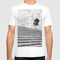 Fingerprint - Stairway MEDIUM Mens Fitted Tee White