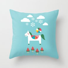 The Snowy Day Throw Pillow