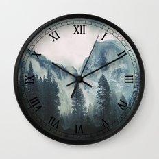 Cross Mountains Wall Clock