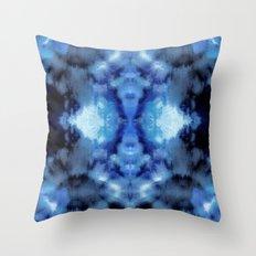 Blue Cloud Batik Throw Pillow