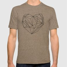 Heart Graphic (black on white) X-LARGE Mens Fitted Tee Tri-Coffee