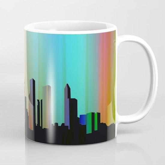 Cityscape through the veil Mug