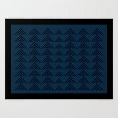 Tan Triangles Print Art Print
