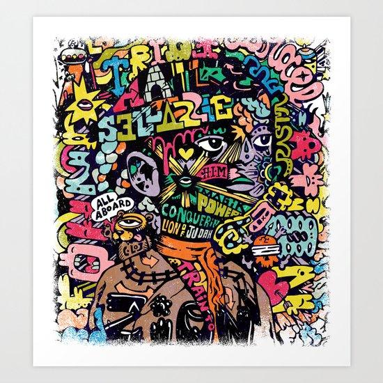 Conquering Lion Art Print