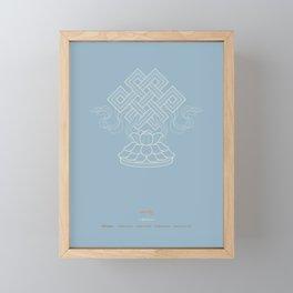 Shrivatsa – Endless Knot Framed Mini Art Print