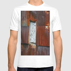Red Barn MEDIUM White Mens Fitted Tee