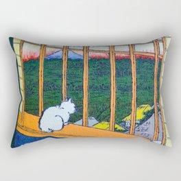 Asakusa Tanbo Tori No Machi Mode (after Hiroshige) Rectangular Pillow