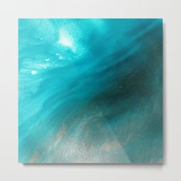 Sea Mist Coastal Ocean Beach Resin Art Metal Print