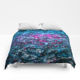Water Color - Violet - Purple Comforters