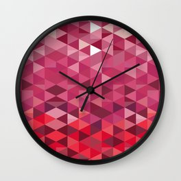 Pink and Purple Triangle Pattern Wall Clock